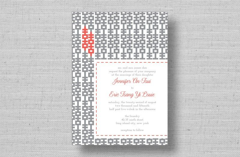 Modern Double Hiness Chinese Wedding Invitations From Marrymoment Chain For Envelope Liners Would