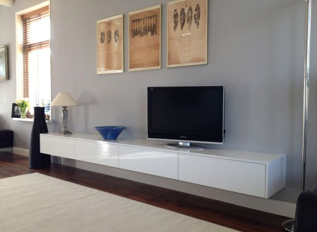 Hoek tv meubel amael met opbergruimte kleur wit of eik