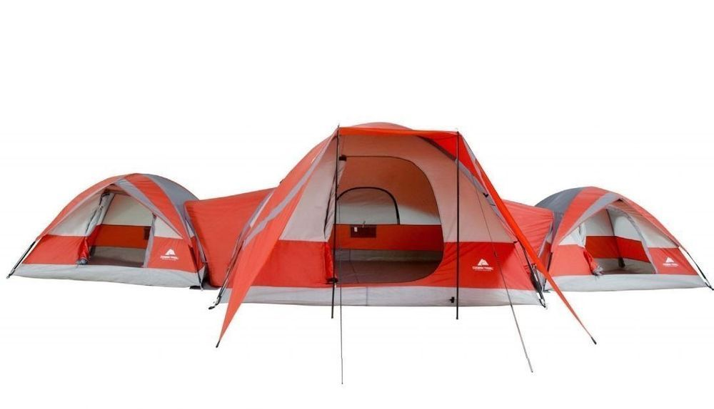 Ozark Trail ConnecTENT 10 person 3 Dome Tent C&ing Outdoors Family Orange Tent  sc 1 st  Pinterest & Ozark Trail ConnecTENT 10 person 3 Dome Tent Camping Outdoors ...