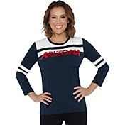 73ba38291bbd7 Touch by Alyssa Milano Women s Arizona Wildcats White Navy Offside 3 4  Sleeve Shirt