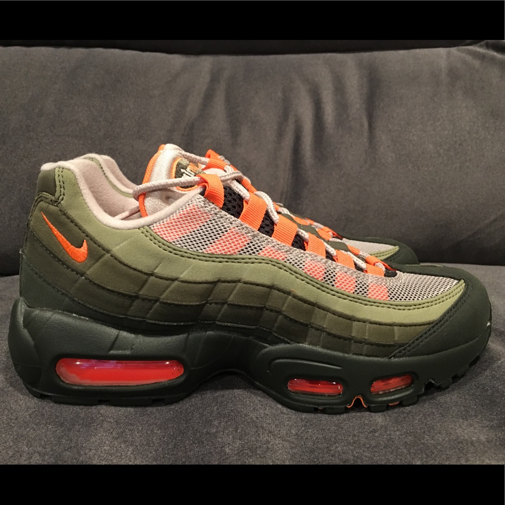 Nike Shoes Nike Air Max 95 Og Olive Orange Running Dames  Nike Air Max 95 Og Olive Orange Running Women