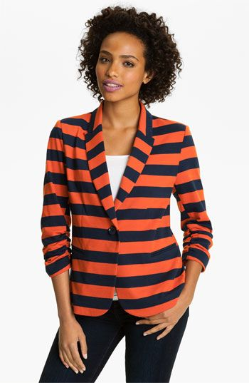 Olivia Moon Stripe Notch Collar Jacket | Nordstrom