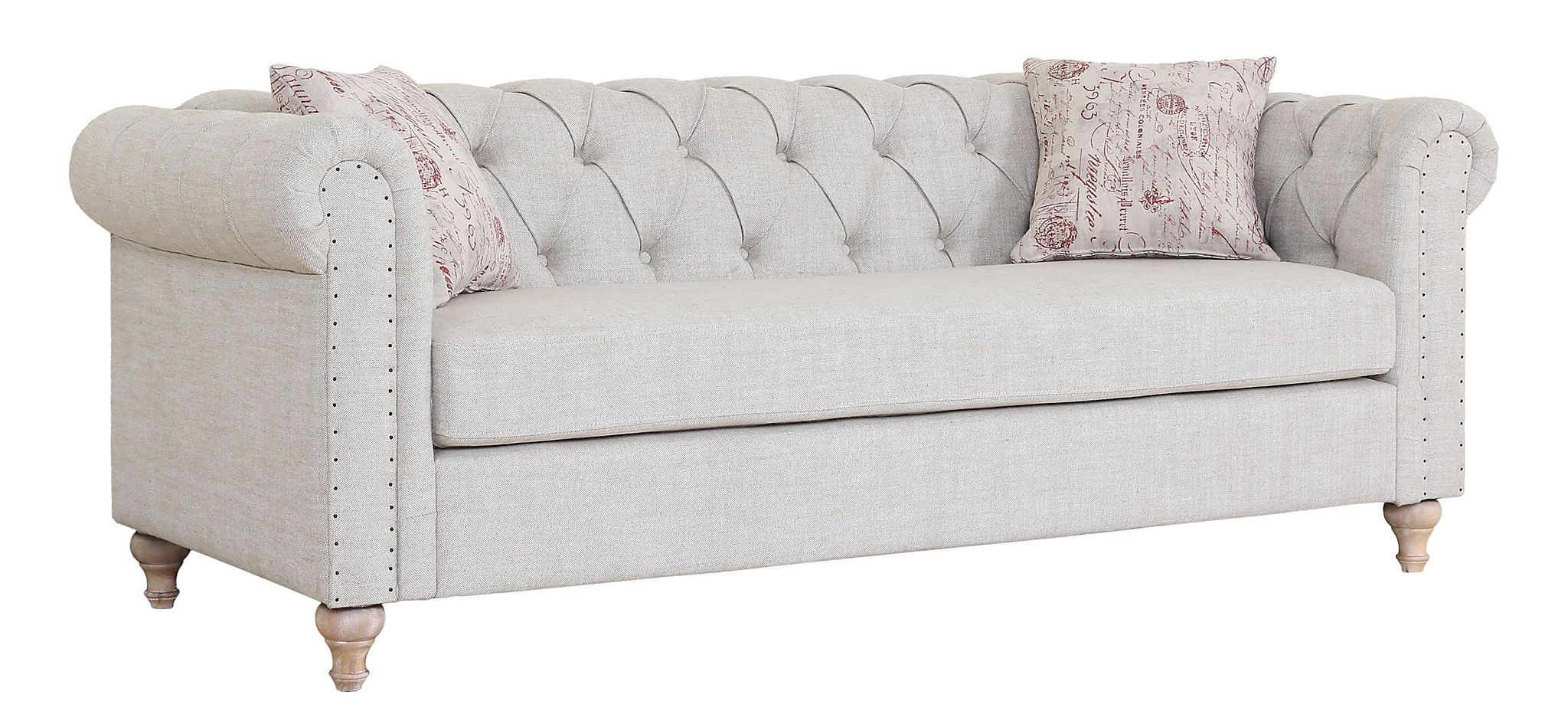 Trending Tufted Linen Sofa | Kirklands
