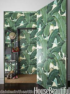 Vintage Designed Key West Palms Wallpaper Mid Century