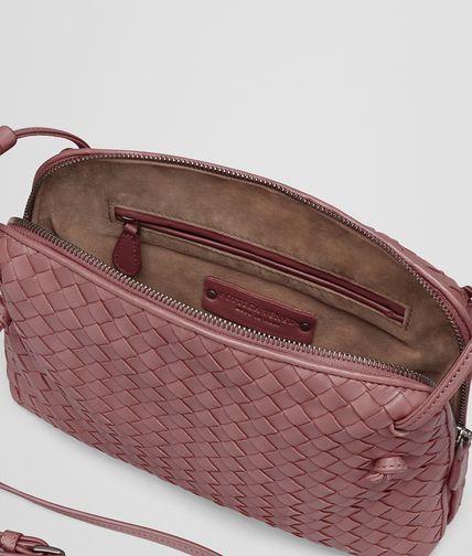 c0e3bc60ab BOTTEGA VENETA MESSENGER BAG IN DUSTY ROSE INTRECCIATO NAPPA Crossbody bag  D dp