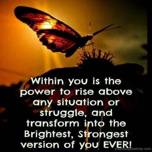the power of the situation Use mind power and subconscious mind power to achieve  you re-train your mind and you train the power of your subconscious mind to attract more positive situation.