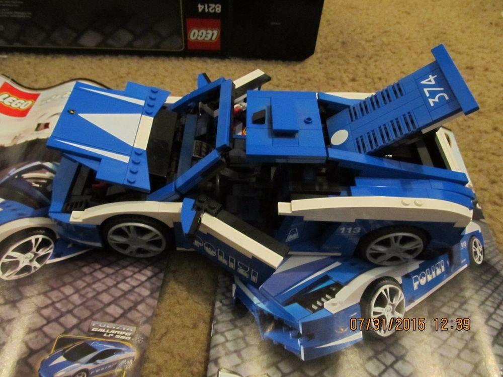 Lego 8214 Racers Lamborghini Polizia 100 Complete Box And