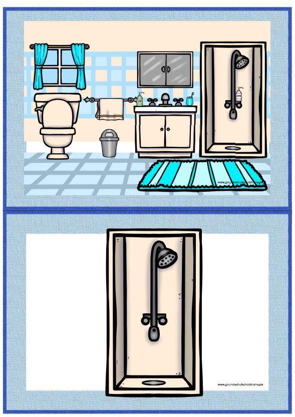 themenpaket at home englisch grundschule flashcards spiele freiarbeitsmaterial arbeitsbl tter. Black Bedroom Furniture Sets. Home Design Ideas