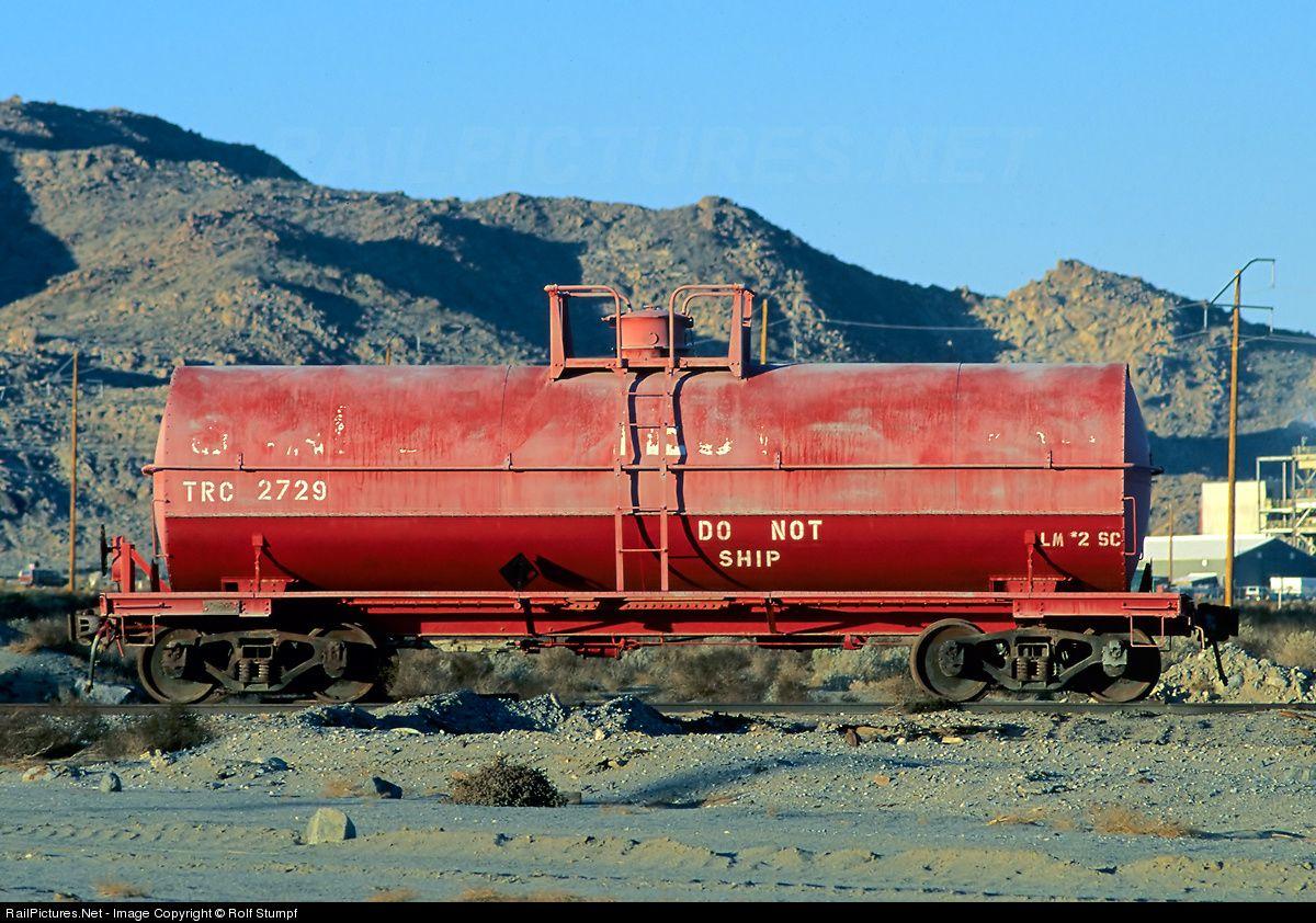 Trc 2729 Trona Railroad Tank Car At Trona California By Rolf Stumpf Train Car Railroad Railway Museum