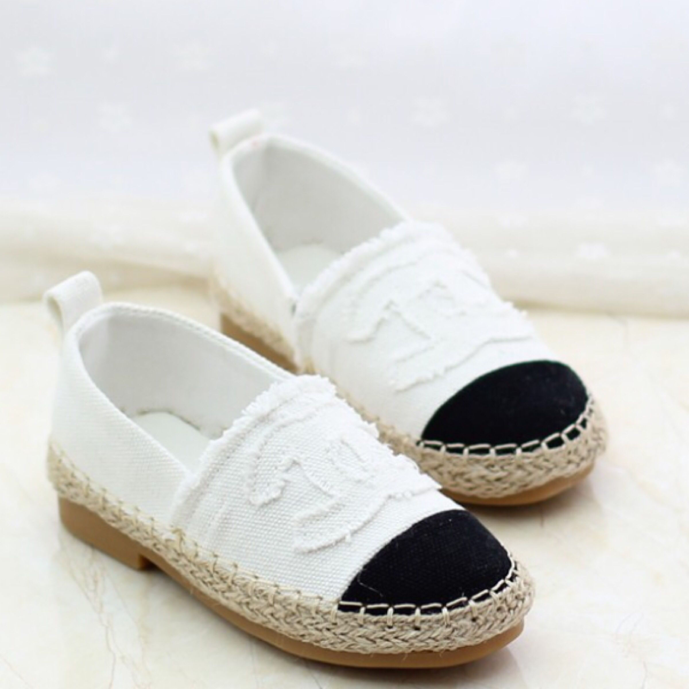 6a9cebedda36 Of course Nailea HAS to have these  inspired Chanel espadrilles. So  freaking cute dude.  toddler  shoes