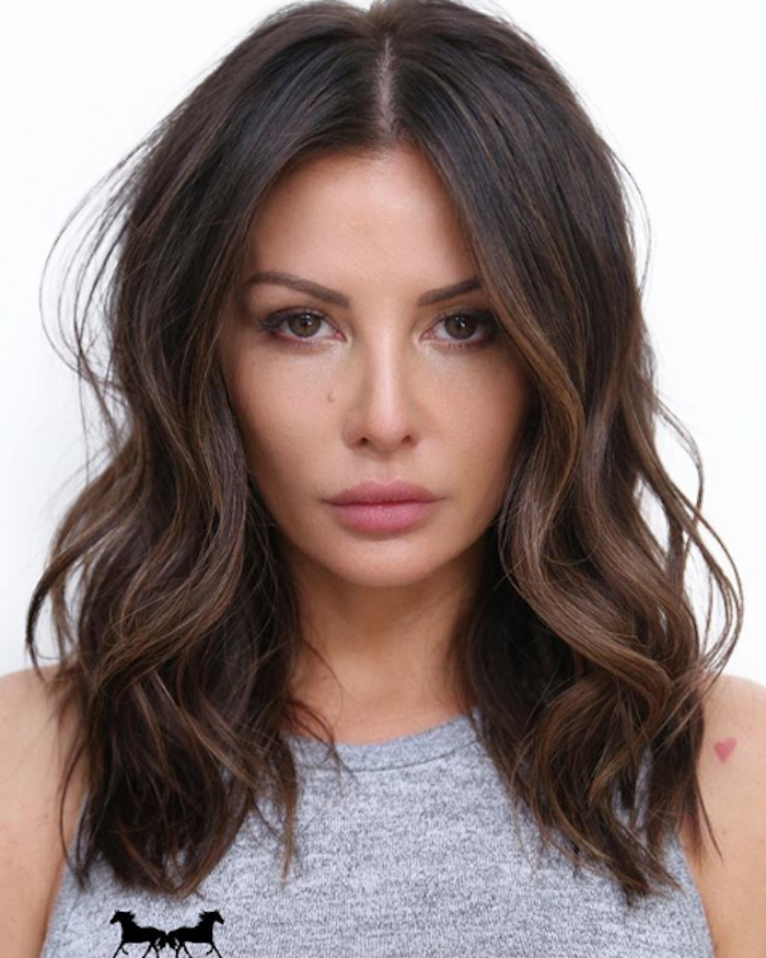 17 Examples of Dark Brown Hair With Highlights to Bring to ...