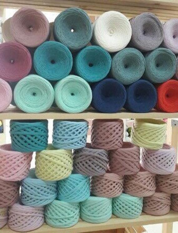 Wholesale T Shirt Yarn 100 Cotton Yarn Set 5 Rolls Bulky Yarn