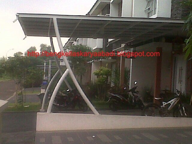 baja ringan lengkung canopy minimalis tiang desain rumah