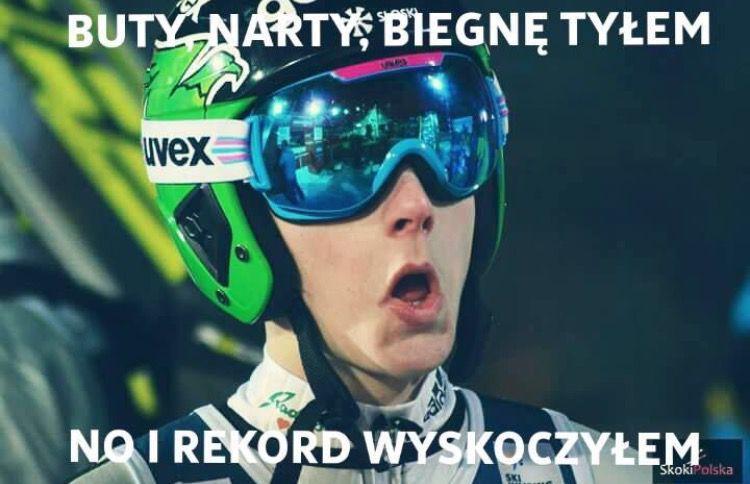 Skoki Narciarskie Memy Ski Jumping Ski Jumper Skiing