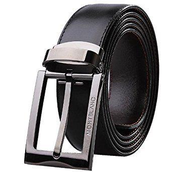 Montblanc Contemporary Belt Black/Brown Reversible Belt 105080 at Amazon Men's Clothing store: Apparel Belts