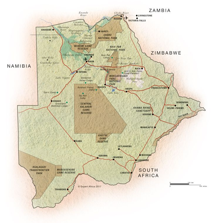 Botswana South Africa Map.Map Of Botswana Botswana C Expert Africa Geo Pinterest