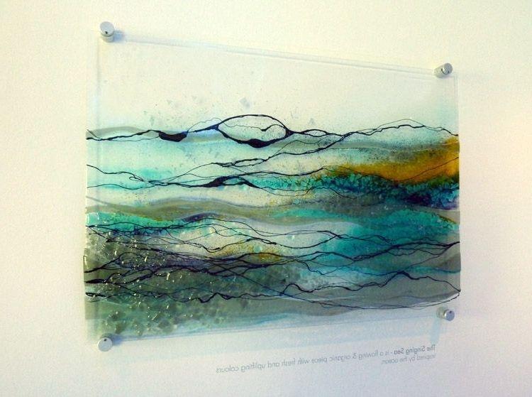 Fused Glass Wall Art Blue Rainforest Designer Glass Mosaics Designer Glass Mosaics Fused Glass Wall Art Glass Wall Art Panels Glass Wall Art
