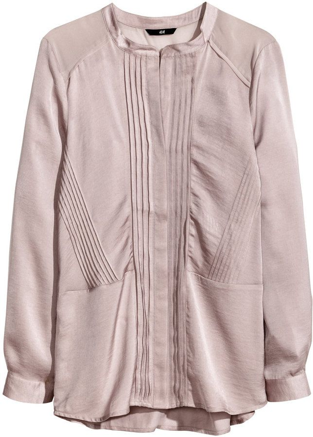 79f222ef H&M Satin Blouse - Dusty pink - Ladies on shopstyle.com | Fashion in ...