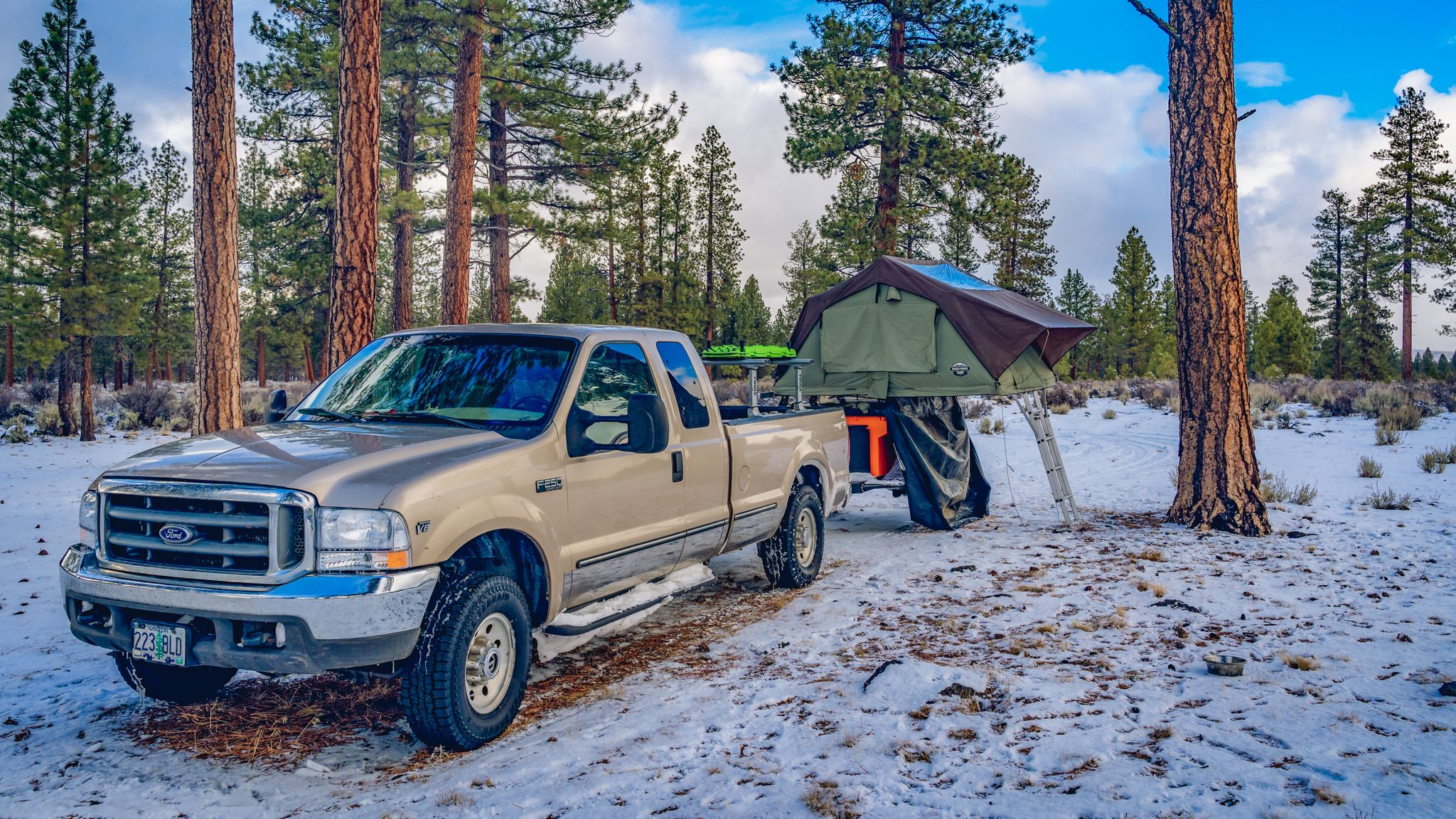 My Roof Top Tent Winter Camping Setup Winter Camping Roof Top Tent Snow Camping