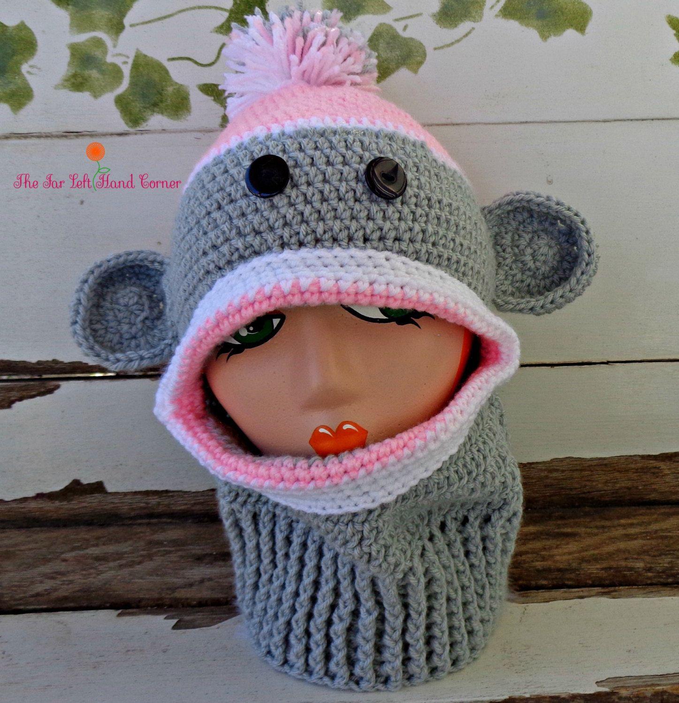 Crochet Sock Monkey Ski Mask by TheFarLeftHandCorner on Etsy ...