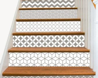 15steps stair riser vinyl strips removable sticker peel - Stickers marche escalier ...