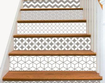 10 Step Stair Riser Decal Op Art Cube Stair Sticker