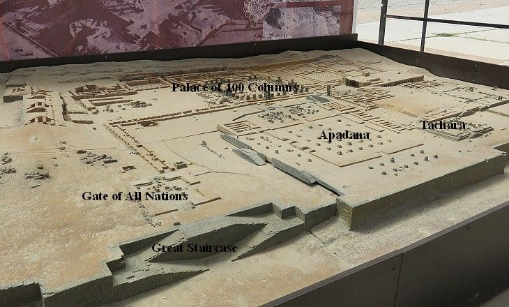 Model of the ruins