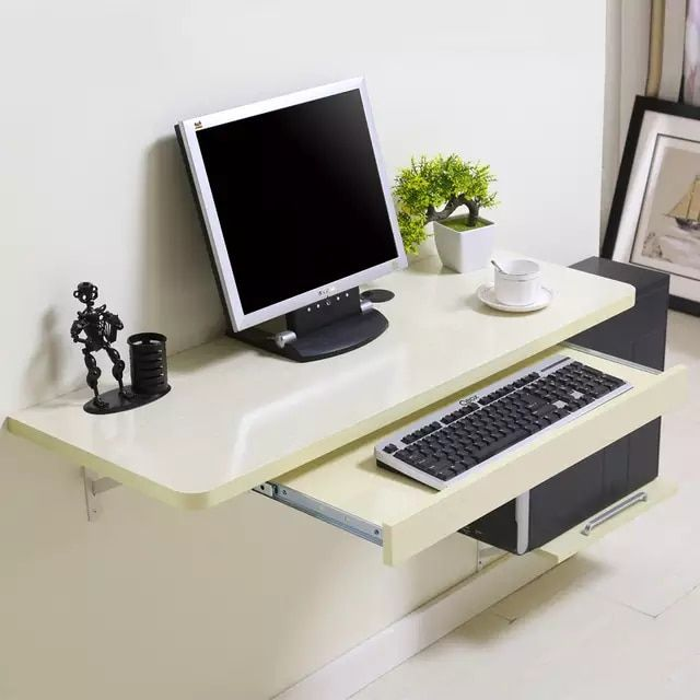 Online Shop Simple Home Desktop Computer Desk Simple Small Apartment New Space Saving Wall Table Aliexpress Mobil In 2020 Simple Desk Wall Mounted Computer Desk Desk