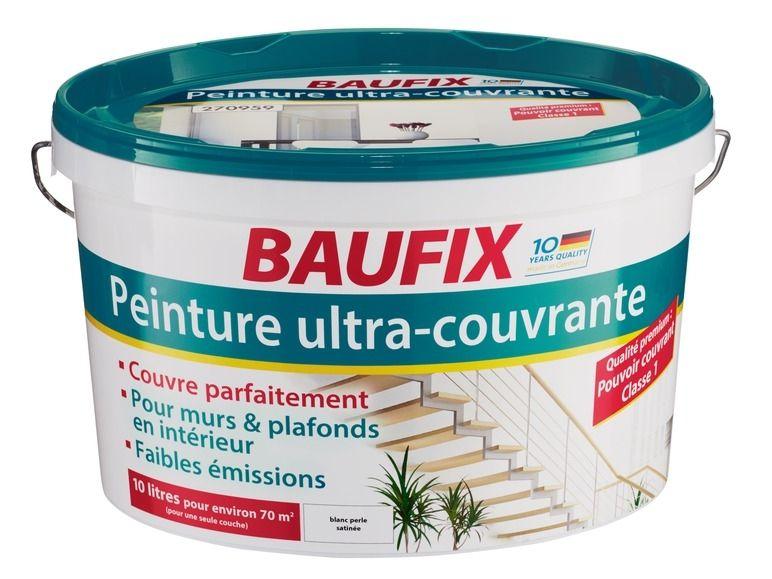 baufix peinture ultra couvrante le pot de 10 l 1 l qualit premium pouvoir. Black Bedroom Furniture Sets. Home Design Ideas
