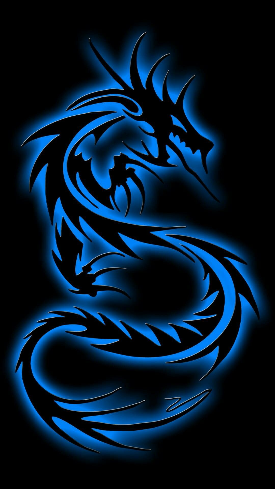 Blue Neon Dragon Tribal Dragon Tattoos Dragon Artwork Dragon