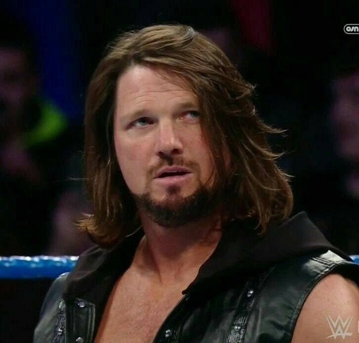 Can We Take The Time To Look At This Hair Yes We Can Aj Styles Aj Styles Wwe Professional Wrestlers