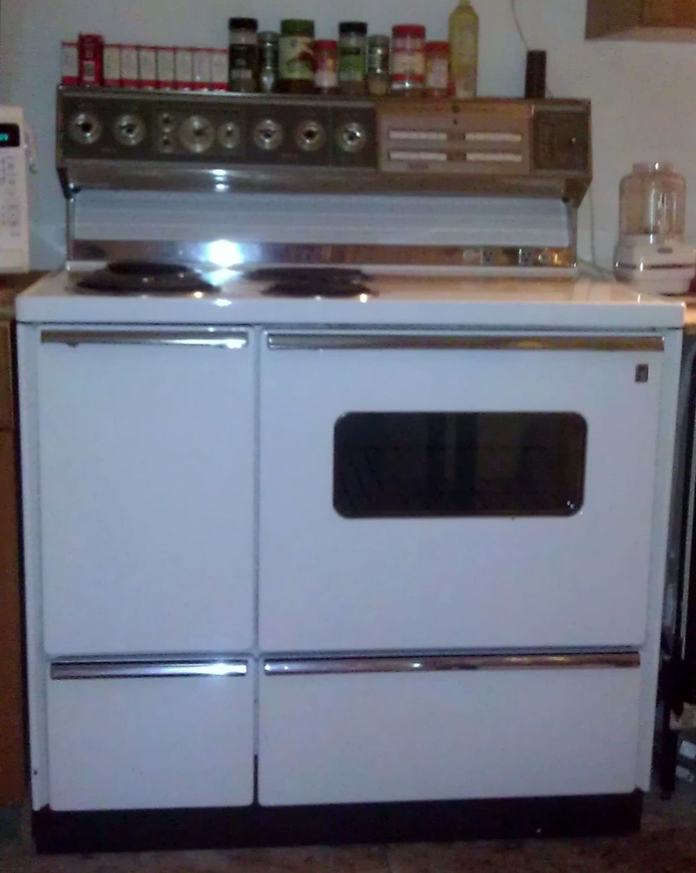 1967 Need Help Dating A Ge 40 Inch Dual Oven Stove Model J 408x2wh And Finding Owners Manual Dual Oven Stove Oven Kitchen Stove
