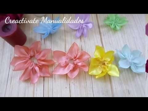 como hacer una tiara con flores de tela y rosas de listonmanualidadescrafts - Como Hacer Diademas De Flores