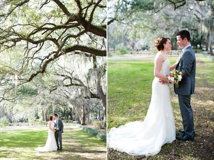 Forsyth Park Wedding Portraits Savannah Elopement Tybee Island Beach