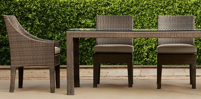 la jolla hazelnut restoration hardware i like the lines of this collection rh outdoor tables