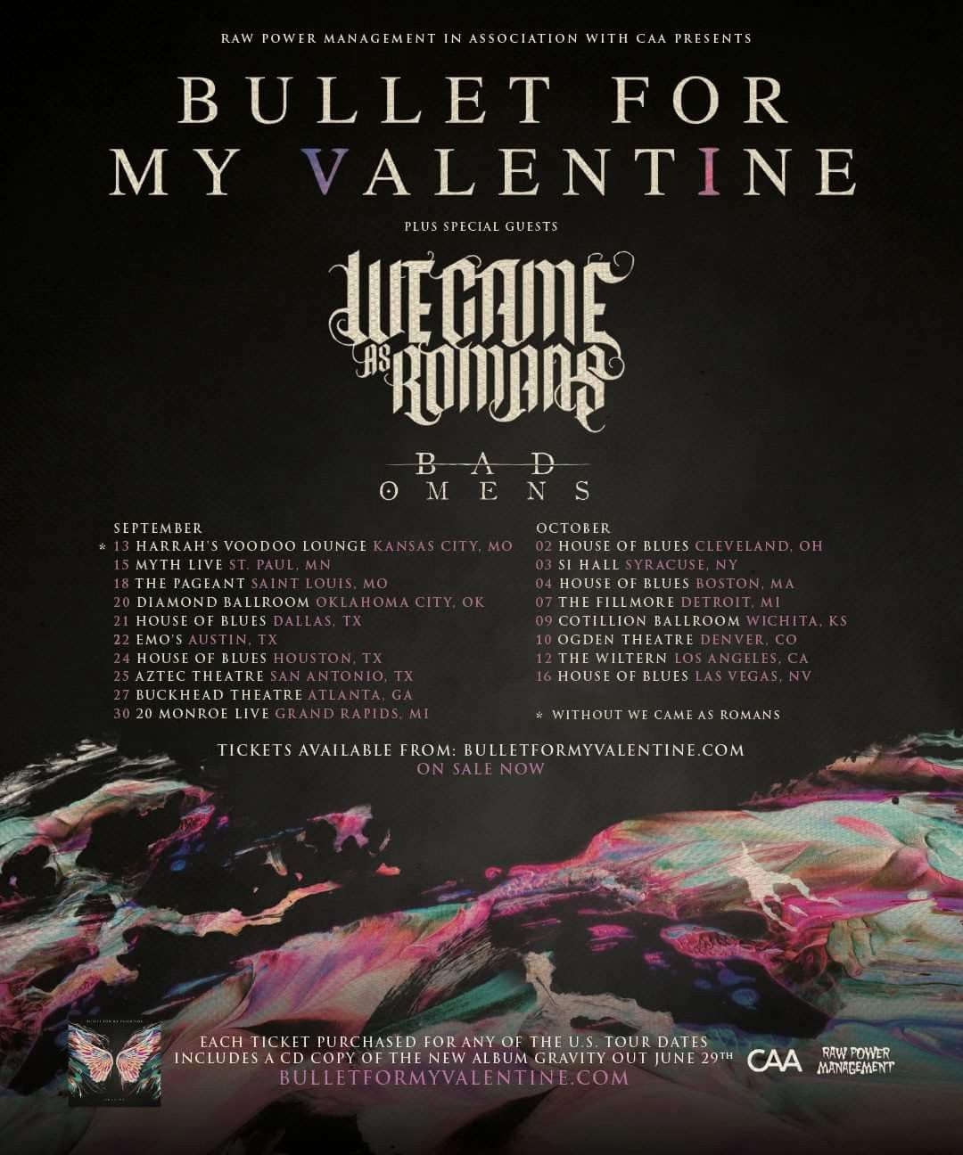 Bfmv 10 02 2018 House Of Blues Cleveland Oh House Of Blues Cleveland Bullet For My Valentine Special Guest