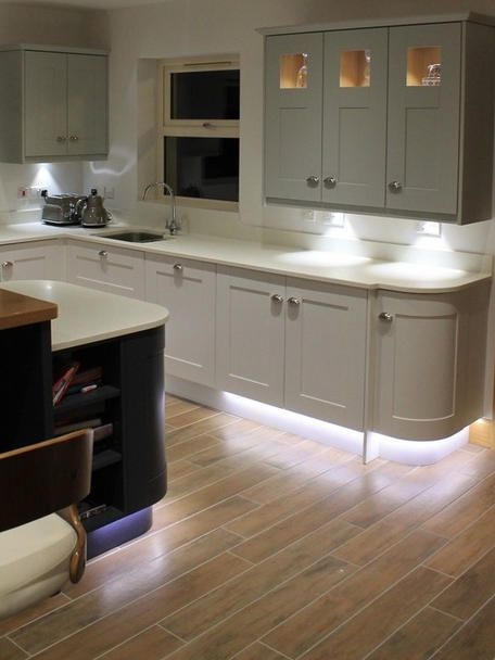 Plinth Lighting Enhance The Feeling Of Space In A Kitchen