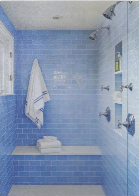 banco dentro de la ducha