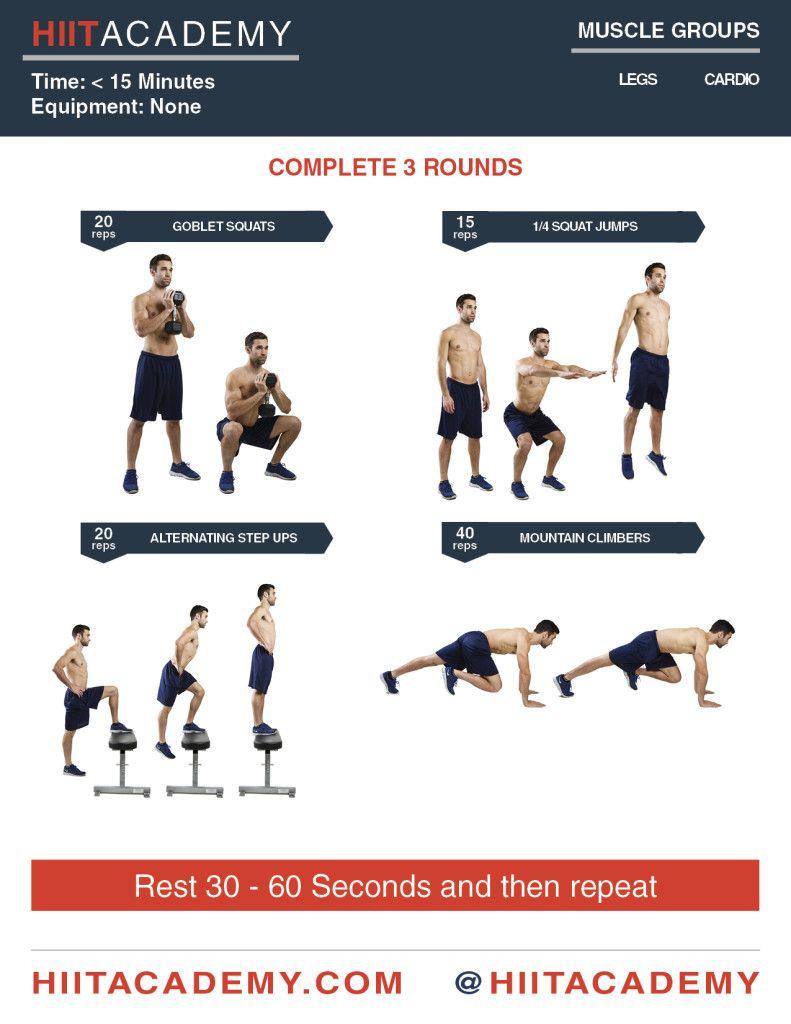 Intense Leg Hiit Workout Hiit Workouts For Men Hiit Leg