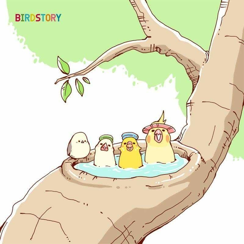 Birdstory Illustration Haven T Found Artist Name Yet So Cute Animales Graciosos Animales Lindos Ilustracion Animal