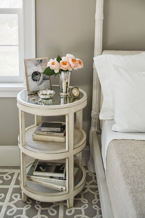 Unique perfect nightstand for books and storage The Style Files Timothy Corrigan via La Dolce Vita Simple Elegant - Review small side table with shelf Contemporary