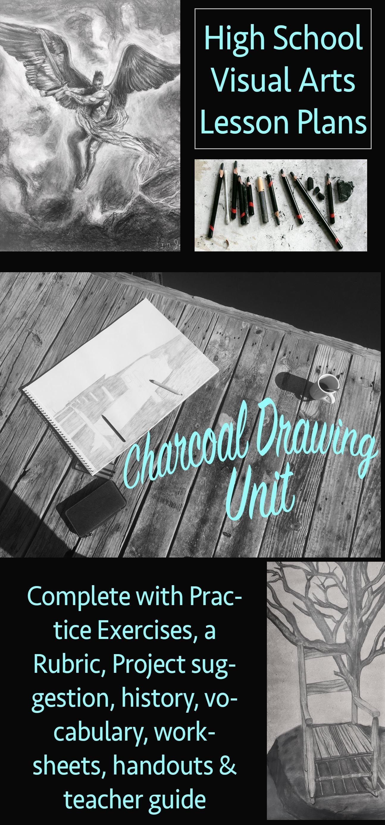 Complete Visual Arts Charcoal Drawing Unit For High School