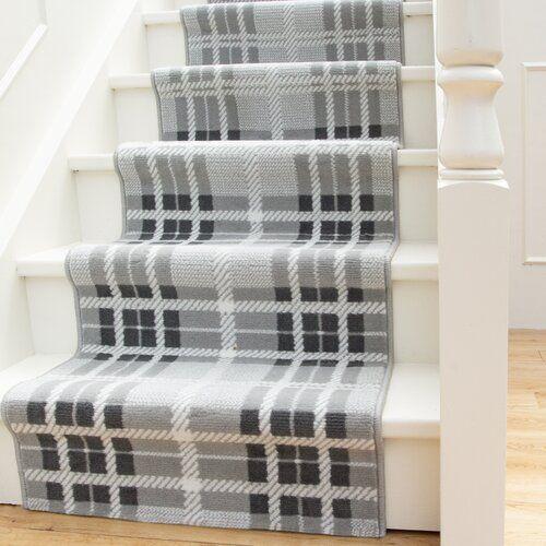 Teppich Scala für Treppen in Grau Alpen Home Teppichgröße: Läufer 80 x 609 cm