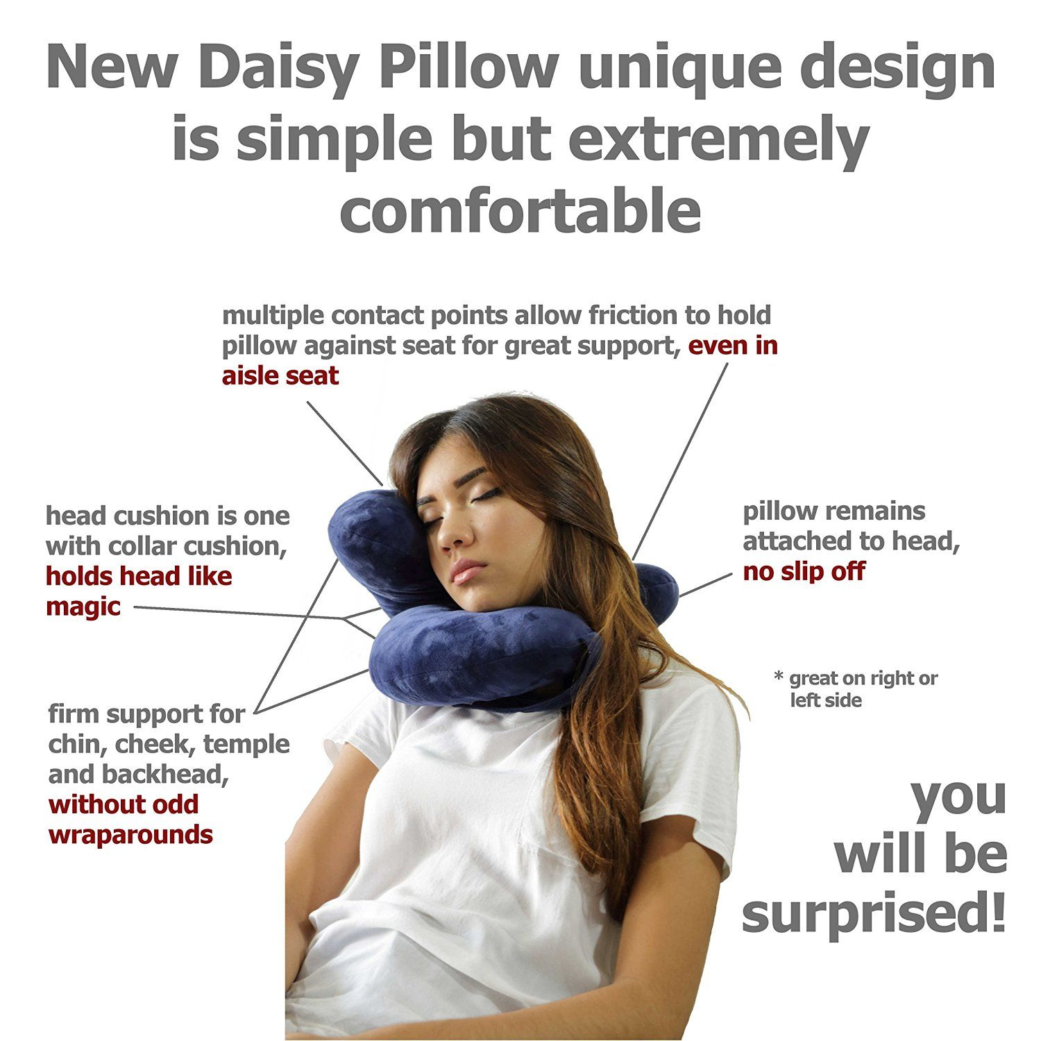 cheap for sale reputable site los angeles Amazon.com: Daisy Travel Pillow Holds Head Like Magic. This ...