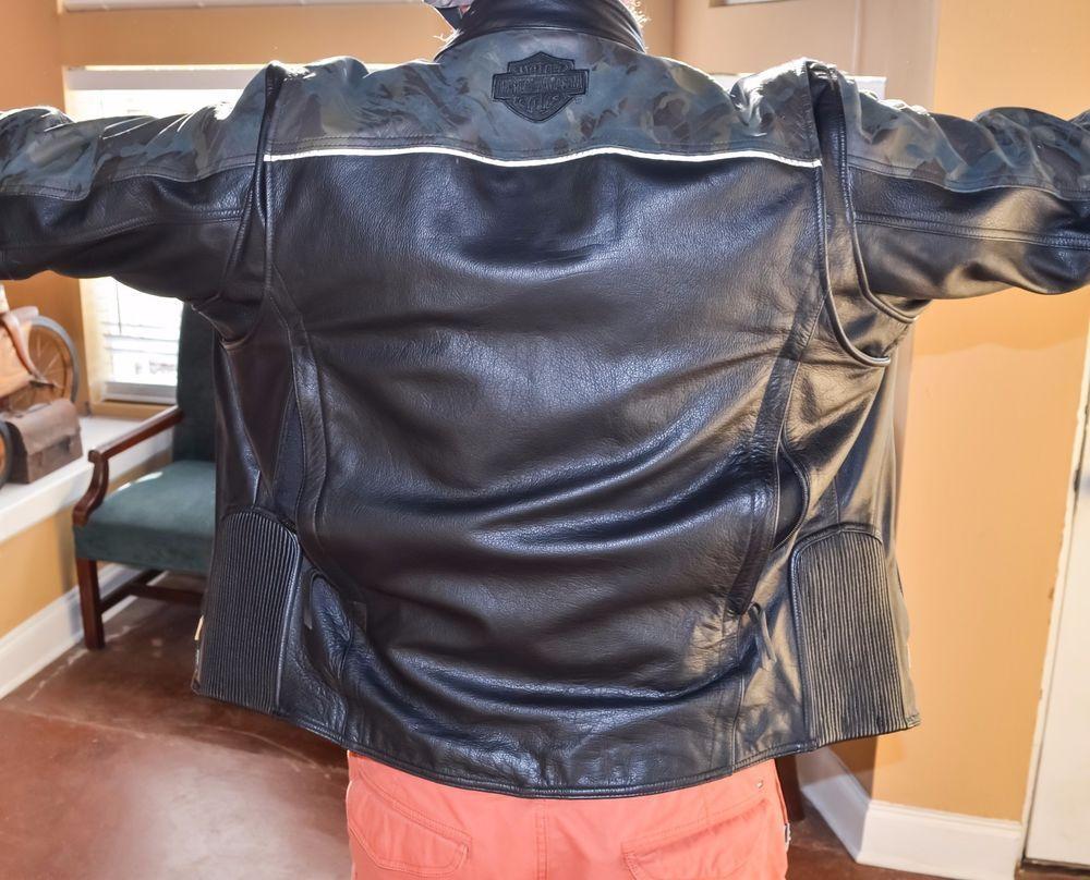 95bbbd6f Harley Davidson Nightfall Camo Leather Jacket 3XL #HarleyDavidson # Motorcycle #harleydavidsonleatherjackets