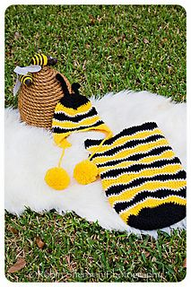 Crochet Baby Clothes Buzzy Bumble Bee Newborn Photography Prop Set By Melanie Padron Pattern 499