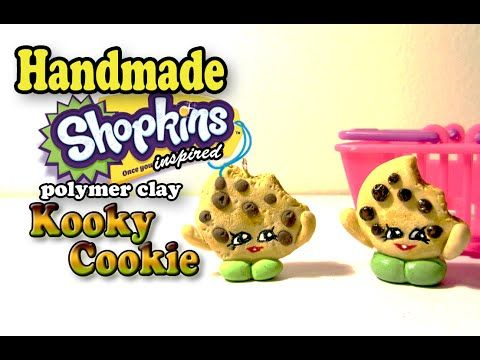 How To Polymer Clay Shopkins Inspired Kooky Cookie Tutorial
