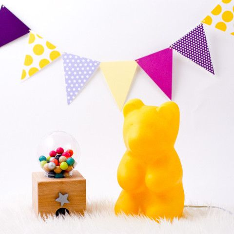 Yellow gummy bear lamp #sundayincolor #heico #yellow #colorful