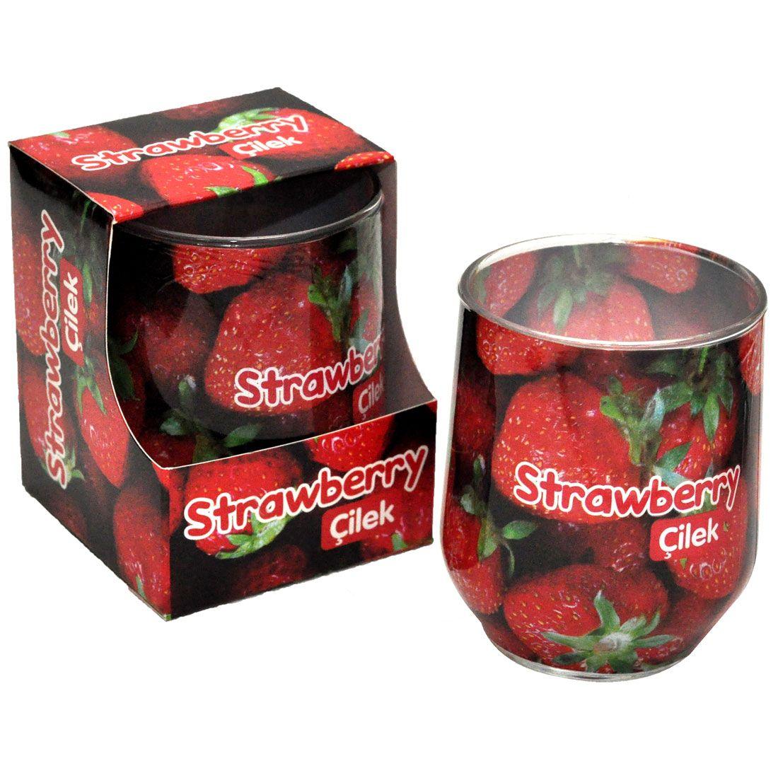 Cilek Kokulu Bardak Mum Tekli Satilmaktadir Kavanoz Olcusu Capi 6 Cm Yuksekligi 14 5 Cm Dir Cilek Cilekkokusu Okyanusesintis Strawberry Jar Condiments