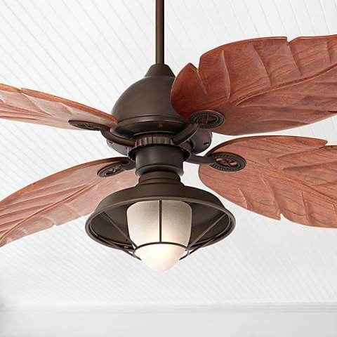 60 Casa Oak Creek Frosted Glass Damp Rated Ceiling Fan 4f600 V0211 Lamps Plus Ceiling Fan Led Ceiling Fan Fan Light